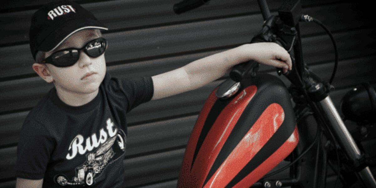marque de tee shirts motard biker enfant femme homme