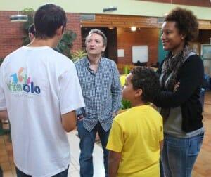 Vitacolo, accueil des parents pendant le soirée de présentation du projet
