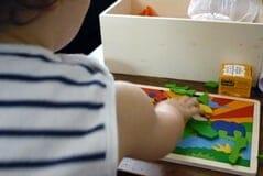 box pour enfants Odicé, le puzzle en bois goki