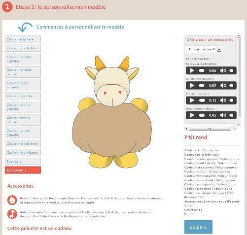 margotte tournicote : peluches personnalisées pour enfant