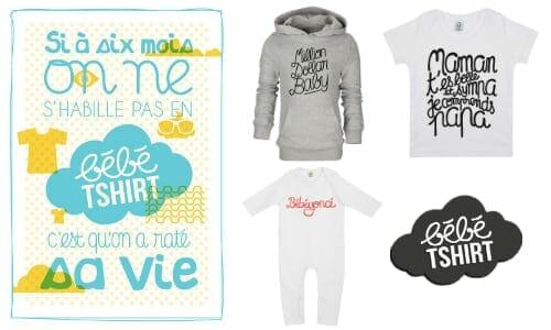 bébétshirt : vêtements décalés pour bébés