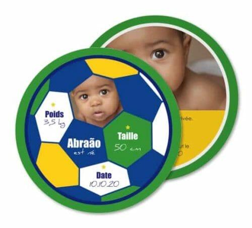 Faire-part de naissance : football