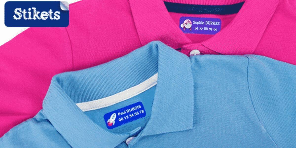 stikets : étiquettes pour vêtements et objets