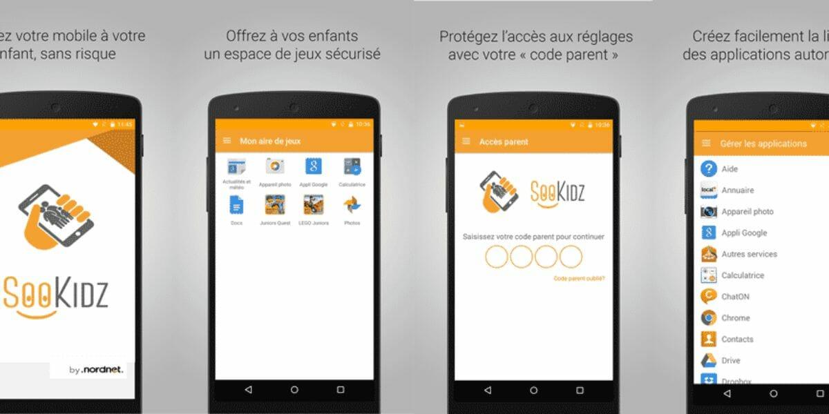 sookidz, filtrage d'applications pour enfants