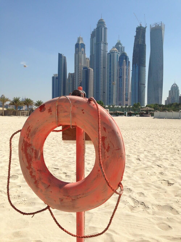Vacances en famille a dubai la plage