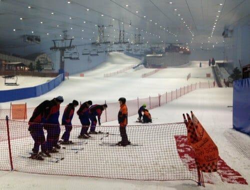 activités à faire avec des enfants à Dubaï : ski Dubaï