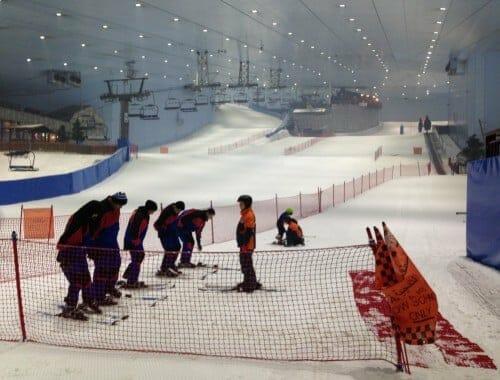 vacances avec des enfants a dubai - ski dubai