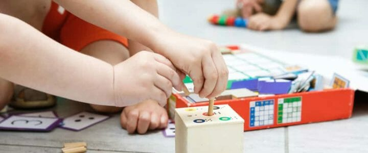 sélection de jeux Montessori