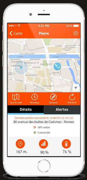application Weenect GPS