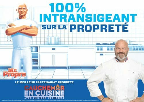 Mr. Propre et Philippe Etchebest