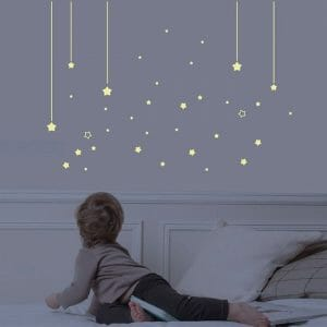 décoration pour une chambre d'enfant - Stickers phosphorescents mur d'étoiles Art for kids