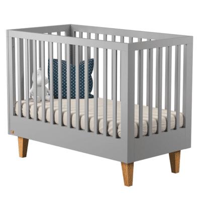 lit à barreaux en bois gris design marque Vox