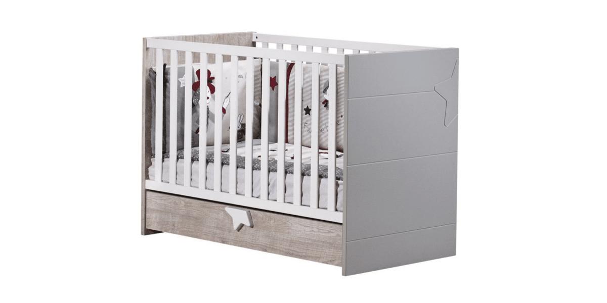 lit bébé évolutif en bois marque Sauthon Nova