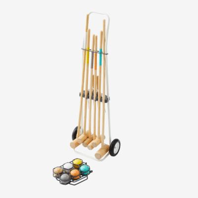 jeu de croquet en bois enfant marque vertbaudet