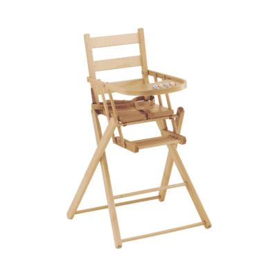 chaide haute bébé en bois marque Combelle