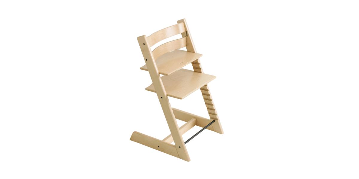 chaise haute bébé en bois marque Stokke