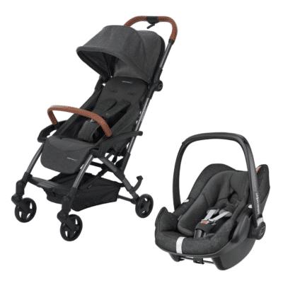 poussette naissance et siège auto gris laika marque Bébé Confort