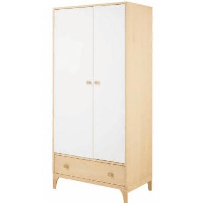 armoire enfant en bois blanc marque Maisons Du Monde