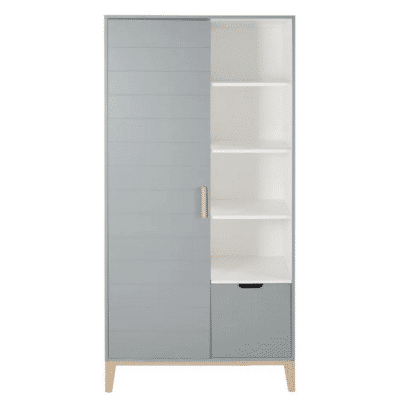 Dressing-enfant-vintage-Gaspard-2-portes-1-tiroirs-gris-bleu-marque-Maisons-Du-Monde