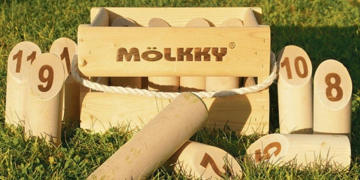 jeu d'extérieur jeu de quille en bois Mölkky