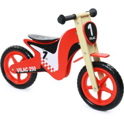 draisienne Vilac en bois moto rouge