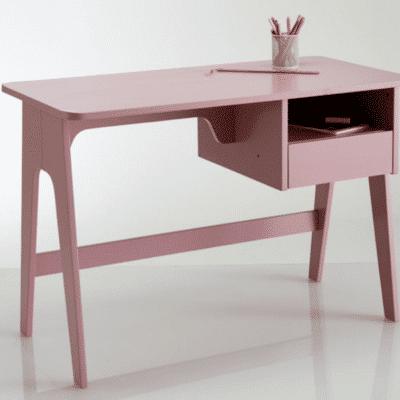 bureau pour enfant rétro vintage rose marque Adil