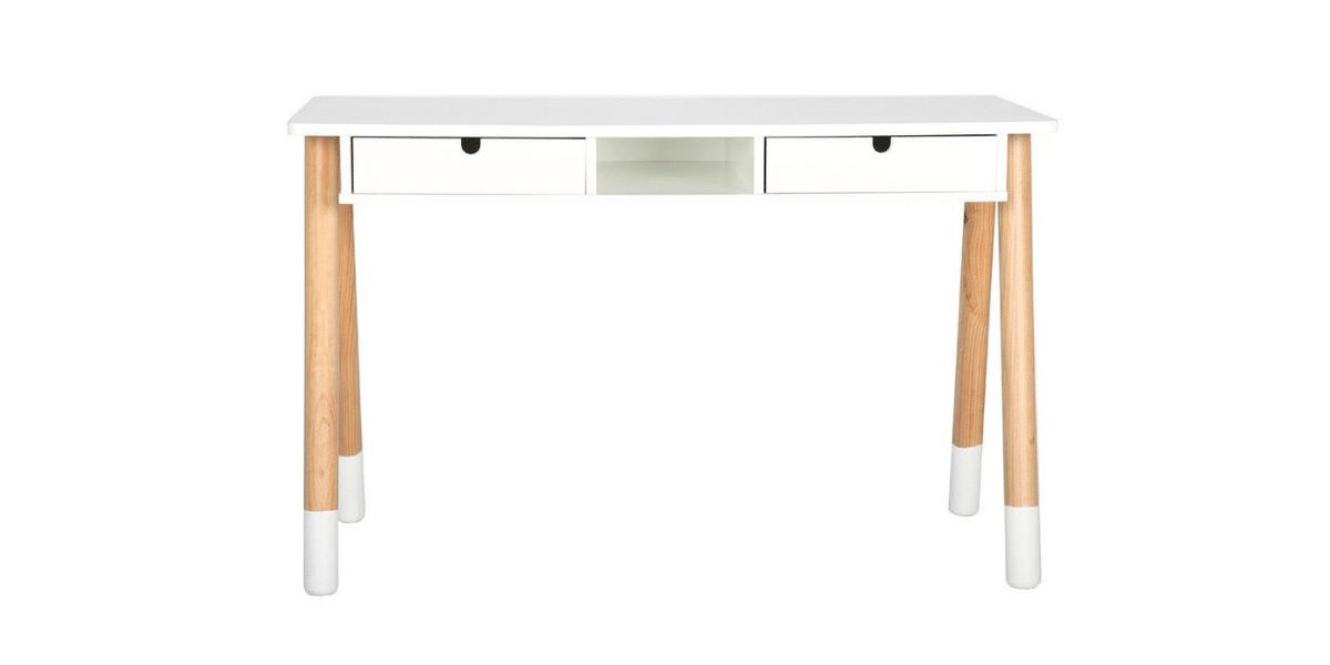Bureau blanc et en bois pour enfant marque Piloti Miliboo