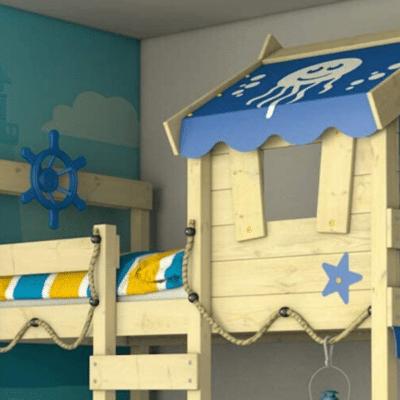 chambre enfant lit cabane en bois Crazy Jelly Wickey