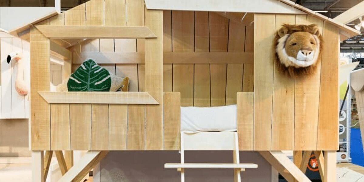 Lit cabane en bois Tilleul Mathy by Bols