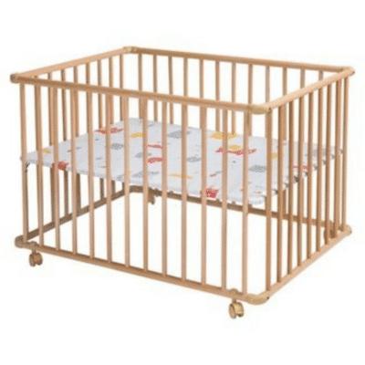 Parc bébé en bois et pliable basic Schardt