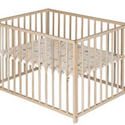 Parc bébé en bois Ideen pliable