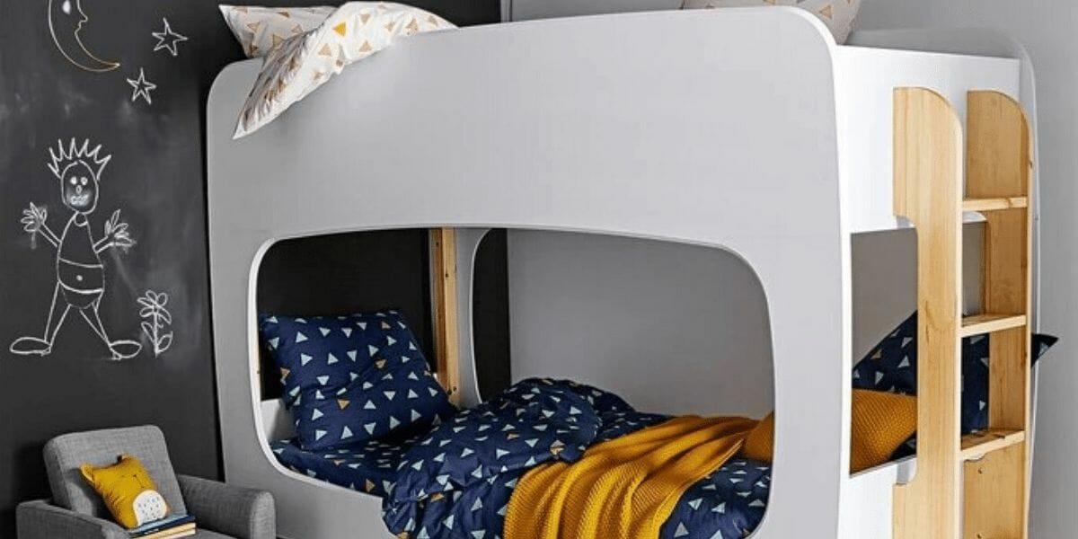Lit-superposé-en-bois-blanc-marque-La-Redoute-Intérieur
