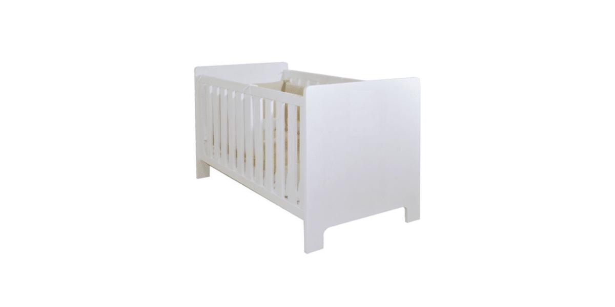 lit bébé évolutif en bois blanc marque La Cabane de Calys