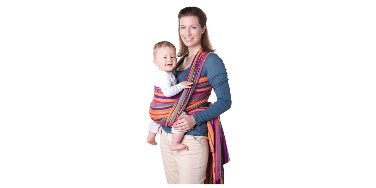 écharpe de portage bébé marque Amazonas Lollipop