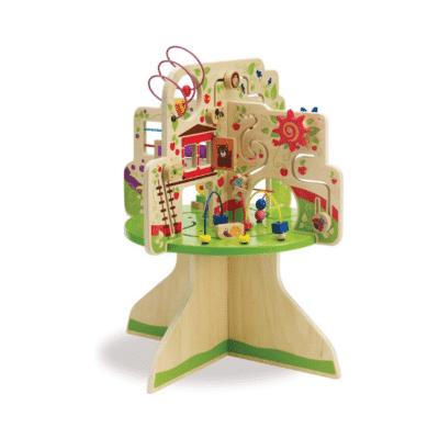 table d'activités arbre boulier en bois marque Manhattan Toy