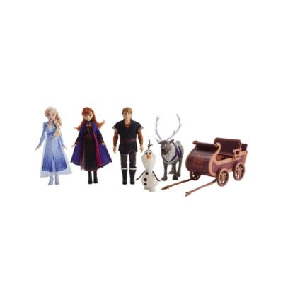 Coffret-de-5-figurines-et-traîneau-La-reine-des-neiges-2