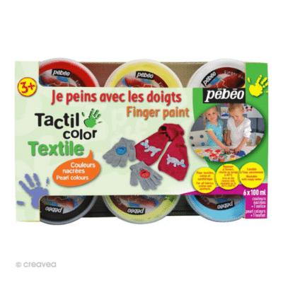 Kit-de-peinture-au-doigt-bébé-pour-tissu-Pébéo