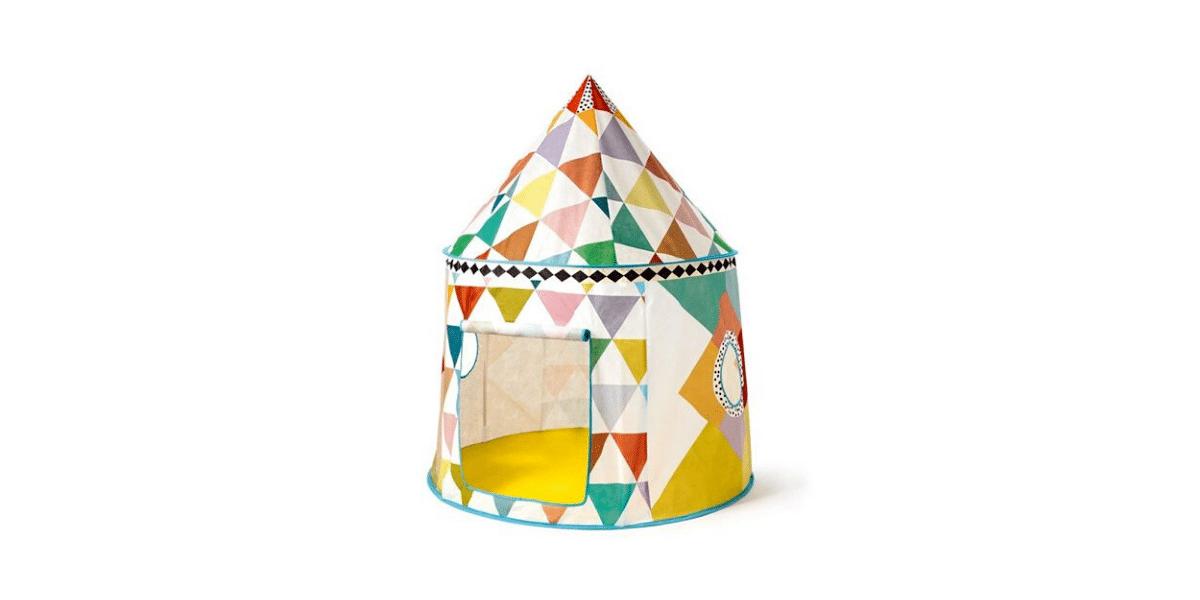 Cabane-en-toile-pour-enfant-multicolore