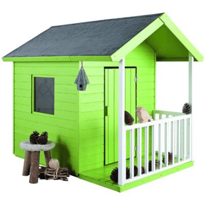 cabane en bois Kangourou Jardipolys verte pour enfant