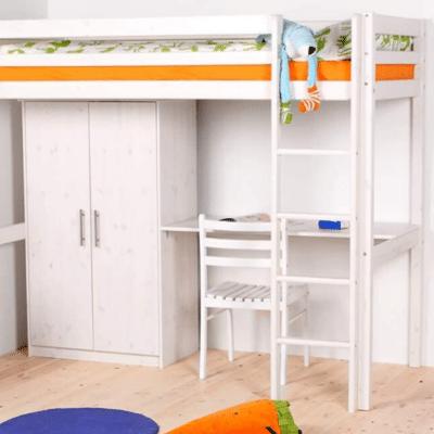 lit mezzanine en bois pour enfant marque Flexa