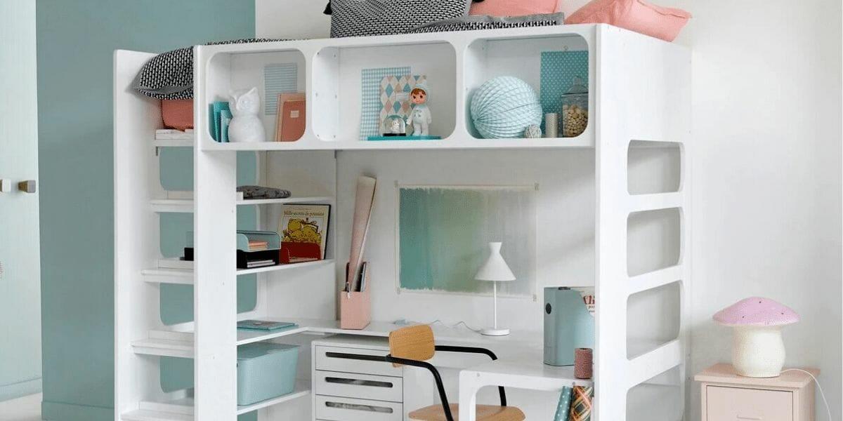 lit mezzanine design pour enfant marque Am.Pm