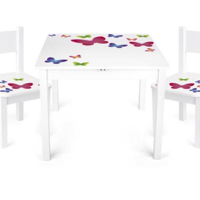 table-blanche-papillon-enfant-marque-leomark