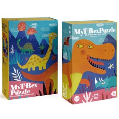 Puzzle enfant T-Rex et dinosaures marque Londji