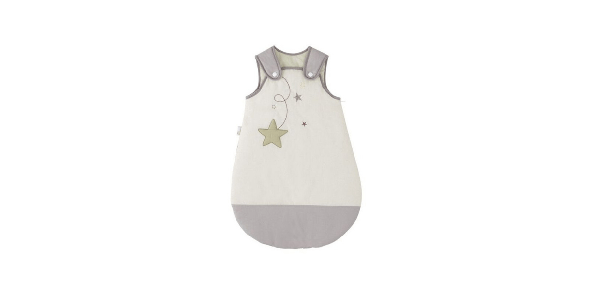 gigoteuse P'tit Basile blanche avec étoiles