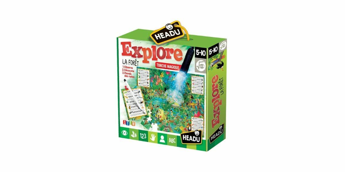 puzzle enfant explore la forêt marque Headu