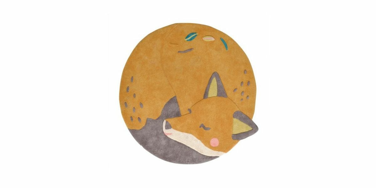 tapis enfant renard marque Moulin Roty