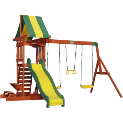 aire de jeux en bois marque Backyard
