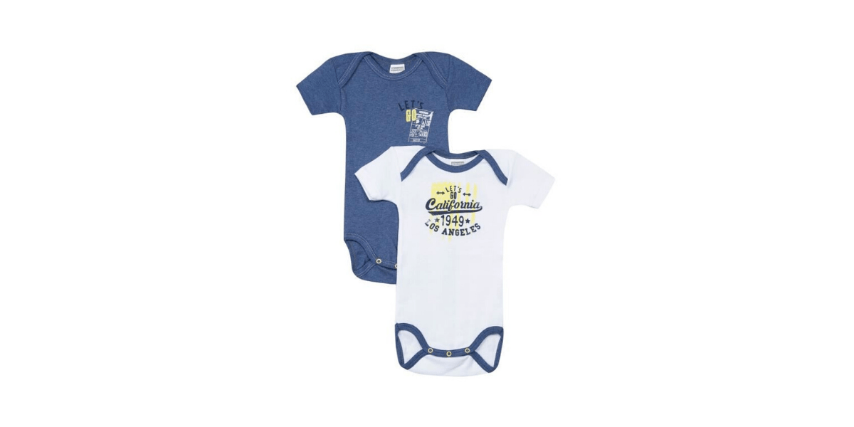 2 body bébé bleu et blanc marque Absorba