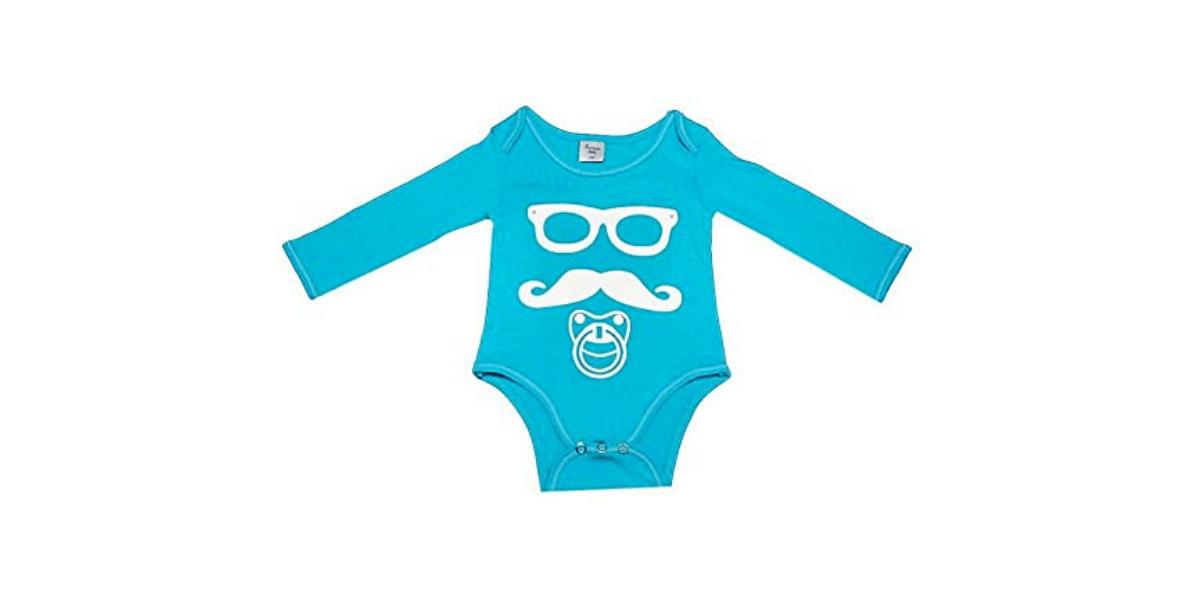 body bébé bleu marque Poussin Bleu