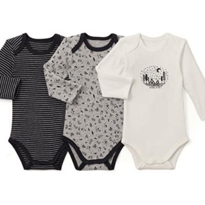 3 body bébé noir gris et blanc marque La Redoute collections
